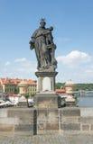Άγαλμα του ST Anthony της Πάδοβας - της Πράγας Στοκ Εικόνα