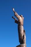 Άγαλμα του ST Francis στο βουνό ελαιόπρινου Στοκ Εικόνες