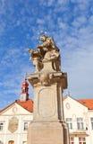 Άγαλμα του ST John Nepomuk στο NAD Labem Brandys Στοκ εικόνα με δικαίωμα ελεύθερης χρήσης