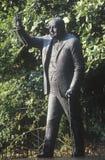 Άγαλμα του Winston Churchill, στον υπόλοιπο κόσμο πρεσβειών, είσοδος στη βρετανική πρεσβεία στη λεωφόρο της Μασαχουσέτης, Ουάσιγκ Στοκ Φωτογραφίες