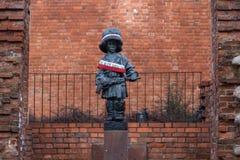 Άγαλμα των λίγων επαναστατικών στη Βαρσοβία - MaÅ 'Υ Powstaniec Στοκ Εικόνες