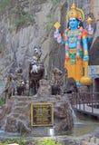 Άγαλμα των σπηλιών Krishna σχεδόν Batu στοκ εικόνα
