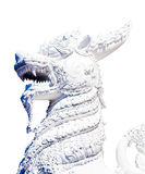 Άγαλμα των φανταστικών πλασμάτων που απομονώνονται στο άσπρο υπόβαθρο Στοκ εικόνα με δικαίωμα ελεύθερης χρήσης