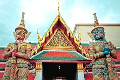 Φρουρά Daemon - Royal Palace, Μπανγκόκ, Ταϊλάνδη. Στοκ Εικόνες