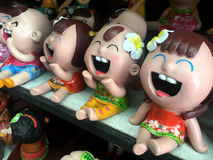 Άγαλμα χαμόγελου παιδιών Στοκ φωτογραφίες με δικαίωμα ελεύθερης χρήσης