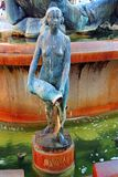 Άγαλμα χαλκού στην πηγή, Plaza de Λα Virgen, Βαλένθια, Ισπανία Στοκ φωτογραφία με δικαίωμα ελεύθερης χρήσης