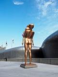 Άγαλμα χαλκού στο plaza σχεδίου Dongdaemun Στοκ Εικόνες