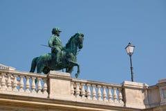 Άγαλμα χαλκού του αρχιδούκα Albrecht, στη Βιέννη Στοκ Φωτογραφίες