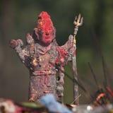 Άγαλμα χαλκού του Λόρδου Shiva, σε έναν ινδό ναό, Νεπάλ Στοκ Εικόνες