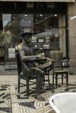 Άγαλμα χαλκού Pessoa «s Στοκ Φωτογραφία