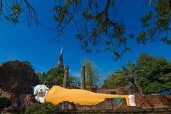 άγαλμα ύπνου του Βούδα Στοκ Εικόνα