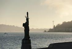 Άγαλμα Alki της ελευθερίας Plaza Στοκ Φωτογραφία