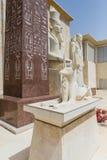 Άγαλμα Anubis που έκανε με τον ψαμμίτη με Pharaoh στο Ντουμπάι Διανυσματική απεικόνιση