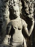 Άγαλμα Apsara σε Angkor στην Καμπότζη Στοκ Φωτογραφίες