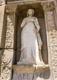 Άγαλμα Arete, βιβλιοθήκη του Κέλσου, Ephesus Στοκ εικόνες με δικαίωμα ελεύθερης χρήσης