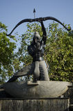Άγαλμα Arjuna σε Chennai, Tamil Nadu, Ινδία, Ασία Στοκ Εικόνα
