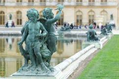 Άγαλμα Cupids στο παλάτι των Βερσαλλιών Στοκ Εικόνα