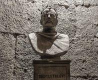 Άγαλμα Diocletian στο παλάτι της πόλης της διάσπασης Στοκ Φωτογραφία