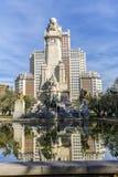 Άγαλμα Don Δον Κιχώτης και Sancho Panza στο τετράγωνο της Ισπανίας στη Μαδρίτη Στοκ εικόνες με δικαίωμα ελεύθερης χρήσης