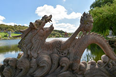 Άγαλμα Dragoon σε BacalhÃ'a Βούδας Ίντεν, Bombarral, Πορτογαλία Στοκ φωτογραφία με δικαίωμα ελεύθερης χρήσης