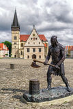 Άγαλμα executioner στην πόλη Bardejov, Σλοβακία Στοκ φωτογραφία με δικαίωμα ελεύθερης χρήσης