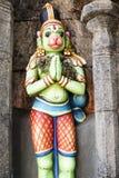 Άγαλμα Hanuman στο ναό Ranganathaswamy σε Trichy (Tiruchirappalli) στη νότια Ινδία Στοκ φωτογραφίες με δικαίωμα ελεύθερης χρήσης