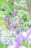 Άγαλμα Hydrangea και budda Στοκ Εικόνα