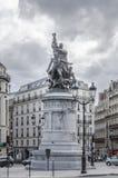Άγαλμα Maréchal Moncey σε ισχύ de Clichy, Παρίσι, Γαλλία Στοκ Εικόνα
