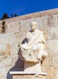 Άγαλμα Menander, θέατρο Dionysus, Αθήνα, Ελλάδα Στοκ Φωτογραφία