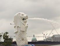 Άγαλμα Merlion στο πάρκο Merlion Στοκ Εικόνες