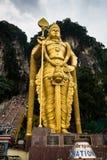 Άγαλμα Murugan στην είσοδο των σπηλιών Batu στη Κουάλα Λουμπούρ Μαλαισία Στοκ φωτογραφίες με δικαίωμα ελεύθερης χρήσης