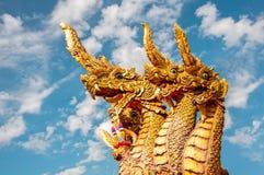 Άγαλμα Naga στο ναό της Ταϊλάνδης Στοκ Εικόνες