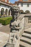 Άγαλμα nouveau τέχνης σε διάσημο Sprudelhof σε κακό Nauheim Στοκ Φωτογραφίες