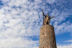 Άγαλμα Pachacutec σε Cuzco Στοκ Φωτογραφία