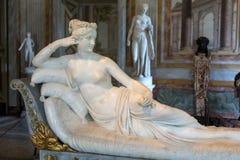 Άγαλμα Pauline Bonaparte από το Antonio Canova σε Galleria Borghese, Ρώμη, Στοκ φωτογραφία με δικαίωμα ελεύθερης χρήσης