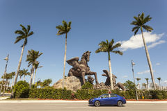Άγαλμα Pegasus στο πάρκο Gulfstream, Φλώριδα Στοκ εικόνες με δικαίωμα ελεύθερης χρήσης