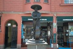 Άγαλμα Plaza Garibaldi Mariachi στην Πόλη του Μεξικού Στοκ εικόνες με δικαίωμα ελεύθερης χρήσης