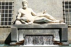 Άγαλμα Po, Τορίνο, Ιταλία Στοκ φωτογραφίες με δικαίωμα ελεύθερης χρήσης
