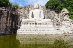 Άγαλμα Samadhi Βούδας Rambadagalla Στοκ φωτογραφίες με δικαίωμα ελεύθερης χρήσης
