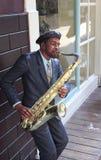 Άγαλμα Saxophonist Στοκ Φωτογραφίες