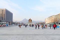 Άγαλμα Sejong βασιλιάδων σε Gwanghwamun Plaza Στοκ εικόνες με δικαίωμα ελεύθερης χρήσης