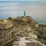 Άγαλμα Selkie ή της συζύγου σφραγίδων σε Mikladalur, Νησιά Φερόες στοκ φωτογραφία με δικαίωμα ελεύθερης χρήσης