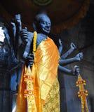 Άγαλμα Vishnu στο gopura δυτικών εισόδων σε Angkor Wat Στοκ εικόνες με δικαίωμα ελεύθερης χρήσης