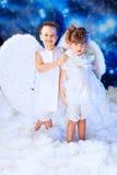 άγγελοι δύο Στοκ Φωτογραφία