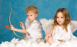 άγγελοι δύο Στοκ Εικόνα