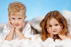 άγγελοι μικροί Στοκ Εικόνα