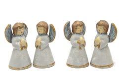 Άγγελοι σε μια άσπρη ανασκόπηση Στοκ φωτογραφία με δικαίωμα ελεύθερης χρήσης