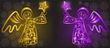 Άγγελοι Χριστουγέννων ελεύθερη απεικόνιση δικαιώματος