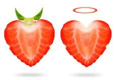 Άγγελος και διάβολος φραουλών Στοκ Εικόνα