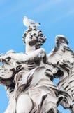 Άγγελος και seagull Ρώμη στοκ εικόνα